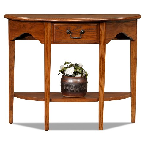 Demilune Console Table Oak - Leick Furniture - image 1 of 2