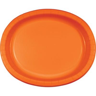 8ct Sunkissed Orange Oval Plates
