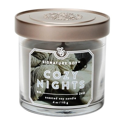 Jar Candle - Cozy Nights - 4oz - Signature Soy