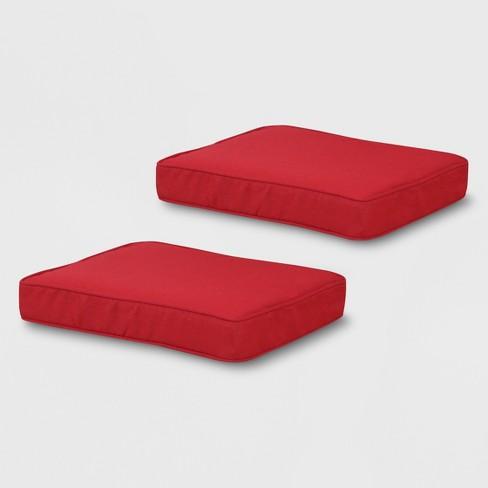 Prime Rolston 2Pk Outdoor Ottoman Cushions Red Grand Basket Dailytribune Chair Design For Home Dailytribuneorg