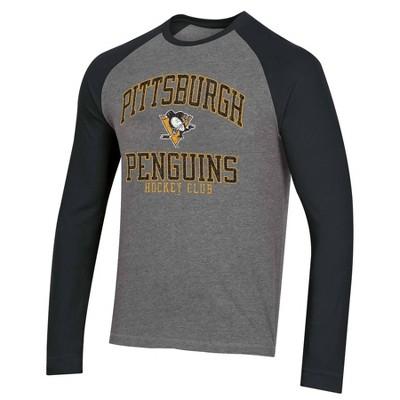 NHL Pittsburgh Penguins Men's Long Sleeve Raglan T-Shirt - L