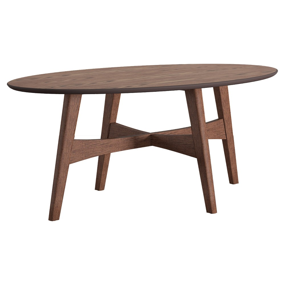 Flournoy Danish Mod Tapered Leg Cocktail Table - Walnut (Brown) - Inspire Q