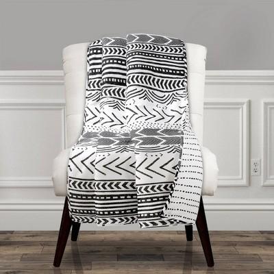 "50""x60"" Hygge Geo Throw Blanket Black/White - Lush Décor"