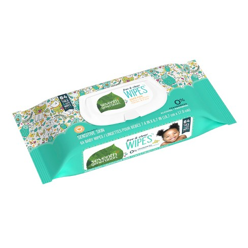 Seventh Generation™ Free & Clear Baby Wipes - 64ct - image 1 of 6