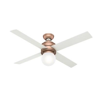 "52"" Hepburn Ceiling Fan with Wall Control (Includes LED Light Bulb) - Hunter Fan"