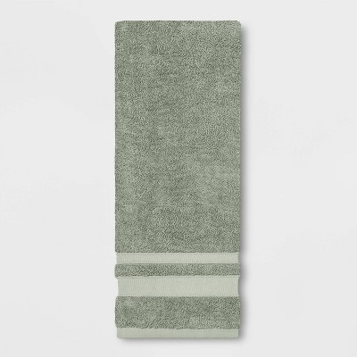 Performance Hand Towel Dark Sage Green - Threshold™