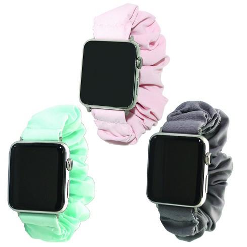 Olivia Pratt Solid Color Scrunchie Apple Watch Band - Grey, Mint, Blush,  42mm : Target