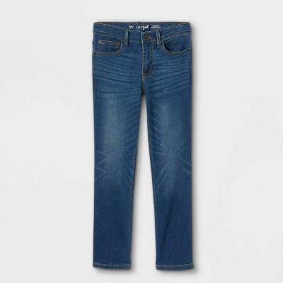 Boys' Stretch Pull-On Straight Denim Pants - Cat & Jack™ Medium Blue Wash