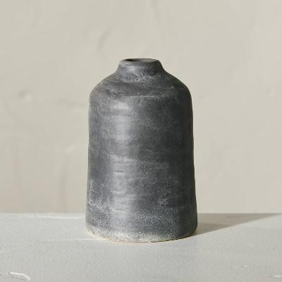 "5"" Distressed Ceramic Vase Dark Gray - Hearth & Hand™ with Magnolia"