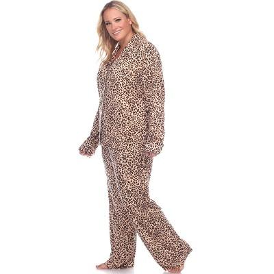 Women's Plus Size Long Sleeve Pajama Set - White Mark