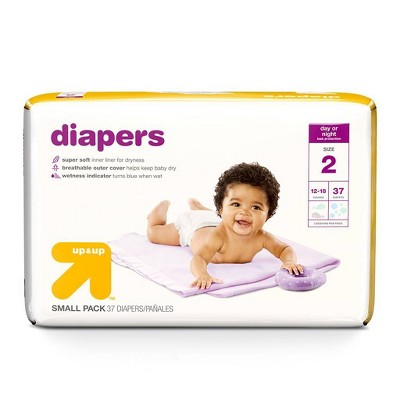 Diapers Small Pack - Size 2 - 37ct - Up&Up™