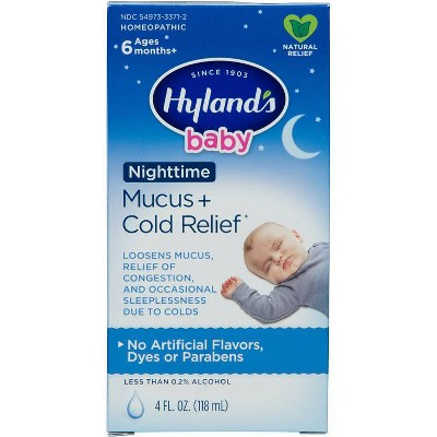 Children's Hylands Baby Nighttime Mucus & Cold Relief Syrup - 4 fl oz