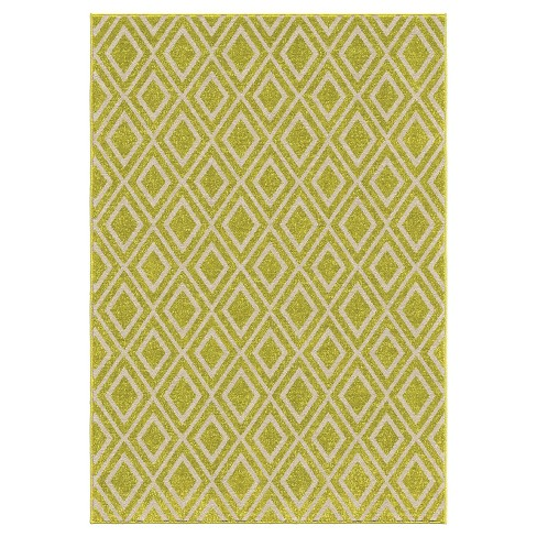 Orian Rugs Diamond Fencing Promise Indoor/Outdoor Area Rug - Green - image 1 of 5