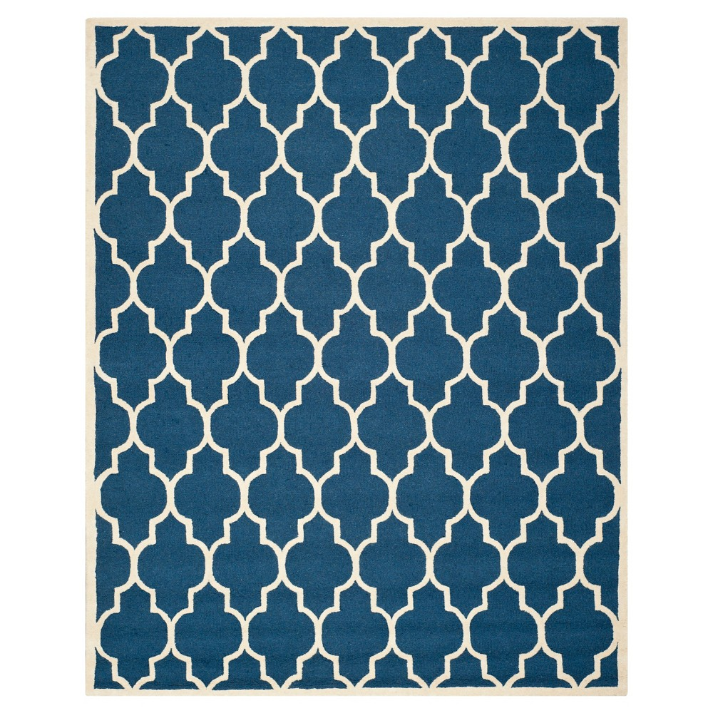 12'X18' Geometric Area Rug Navy/Ivory (Blue/Ivory) - Safavieh