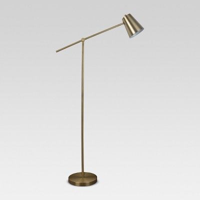 Cantilever Floor Lamp Brass Includes Energy Efficient Light Bulb - Project 62™