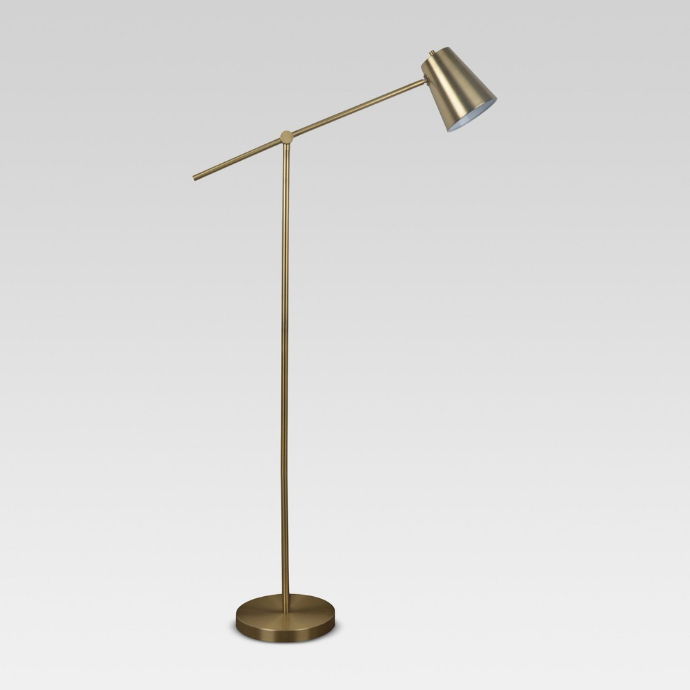 Cantilever Floor Lamp Brass Includes Cfl Light Bulb Project 62 8482