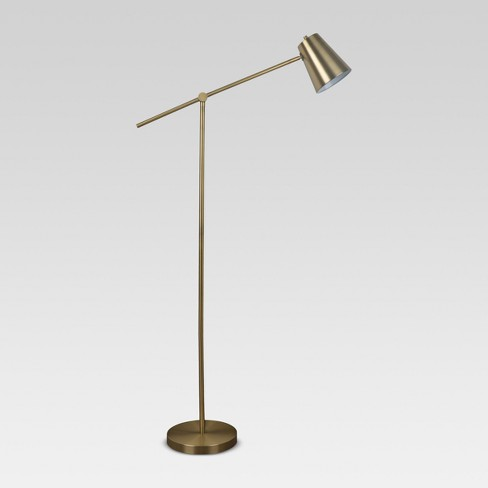 Cantilever Floor Lamp Brass - Project 62™ - image 1 of 4