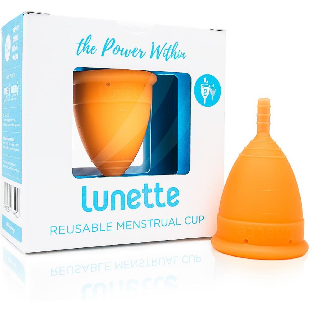 Lunette Reusable Menstrual Cup Orange Model 2