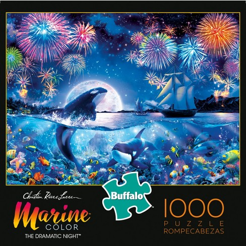 Buffalo Games Marine Color: Dramatic Night Puzzle 1000pc - image 1 of 2