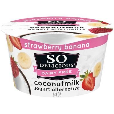 So Delicious Dairy-Free CoconutMilk Strawberry Banana Yogurt Alternative - 5.3oz