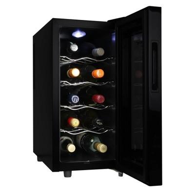 Koolatron 10-Bottle Wine Cooler - Black
