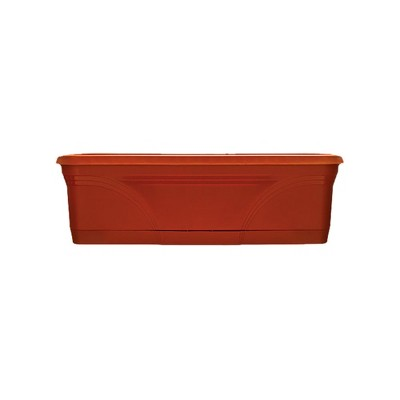 Southern Patio 36 In Medallion Hanging Windowsill Garden Box Planter, Terracotta