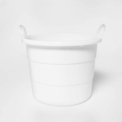 10gal Plastic Utility Storage Tub White - Sun Squad™