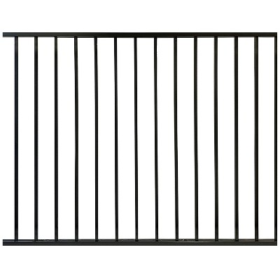 Stratco SC-10760 Outdoor Powder Coated Metal 6 x 4 Foot Ezi-Fence Picket Fence Panel Easy Installation Fence in a Box System, Black