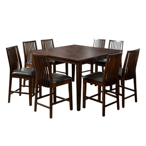 Uriahsimple Square Counter Dining Table Walnut Sun Pine