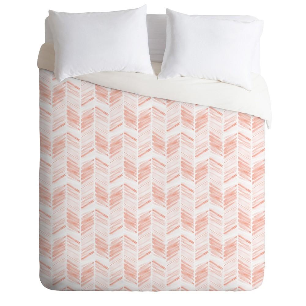 Twin/Twin XL Little Arrow Design Co Geometric Duvet Set Pink - Deny Designs