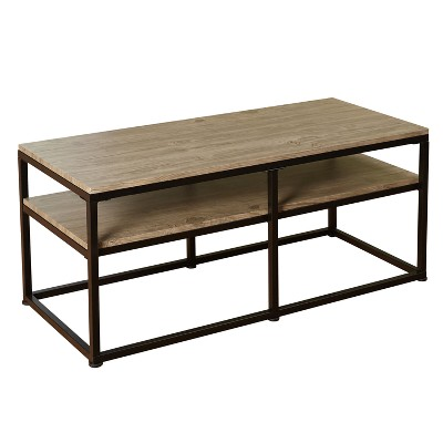 Piazza Coffee Tables - Black/Natural - Buylateral