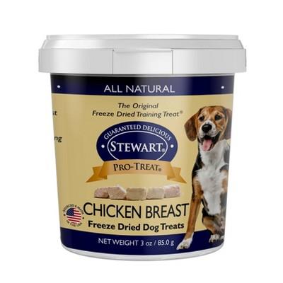 Stewart Freeze-Dried Chicken Breast Dog Treat - 3oz Tub