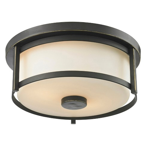 Flush Mount Ceiling Lights with Matte Opal Glass (Set of 2) - Z-Lite - image 1 of 1