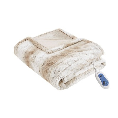 "Marselle Oversized Faux Fur Electric Throw 50X70"" - Beautyrest"