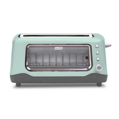 Dash 2-Slice Clear View Toaster - Aqua