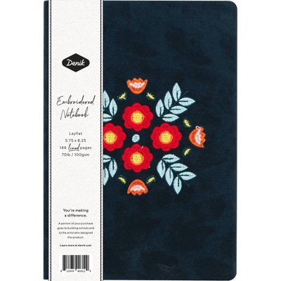 Denik Lined Journal Layflat with Ribbon Page Marker - Evelyn