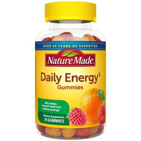 Nature Made Daily Energy Gummies with Multi-Vitamins - Berry Burst & Orange Zing - 70ct - image 1 of 4