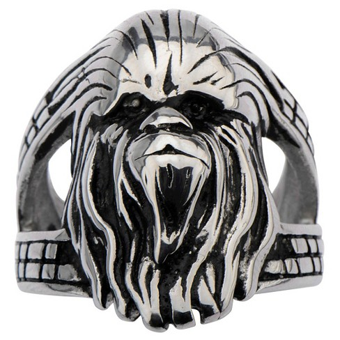 Men's Star Wars Chewbacca Stainless Steel 3D Ring - image 1 of 2