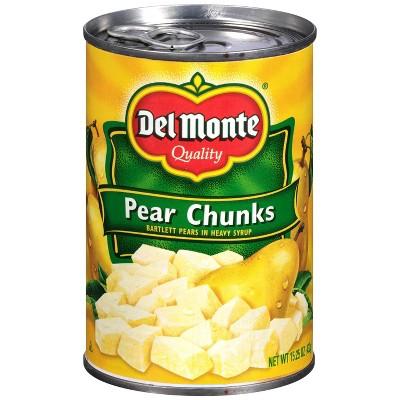 Del Monte Bartlett Pear Chunks in Heavy Syrup - 15.25oz