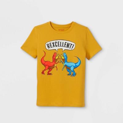 Boys' Dinosaur Short Sleeve Graphic T-Shirt - Cat & Jack™ Mustard