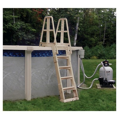 Above ground pool ladder Stainless Steel Target Premium Aframe Above Ground Pool Ladder Taupe Target