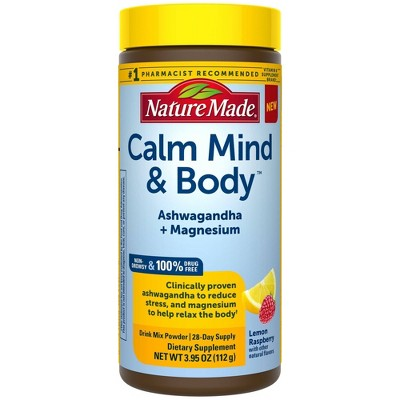 Nature Made Stress Solutions Calm Mind & Body Powder Drink Mix - 3.95oz