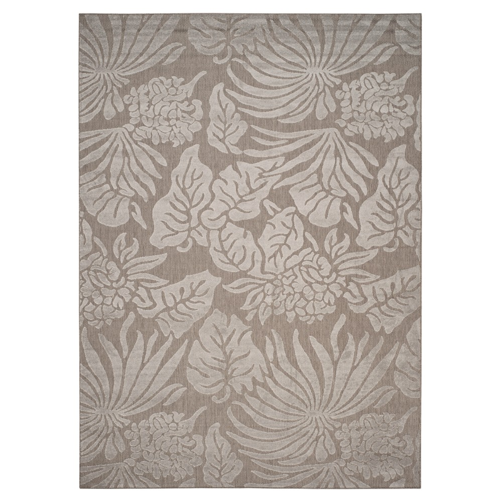 Gray Leaf Loomed Area Rug 8'X11'2 - Safavieh