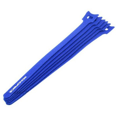 Monoprice Hook and Loop Fastening Cable Ties, 9 in, 10 pcs/pack, Blue