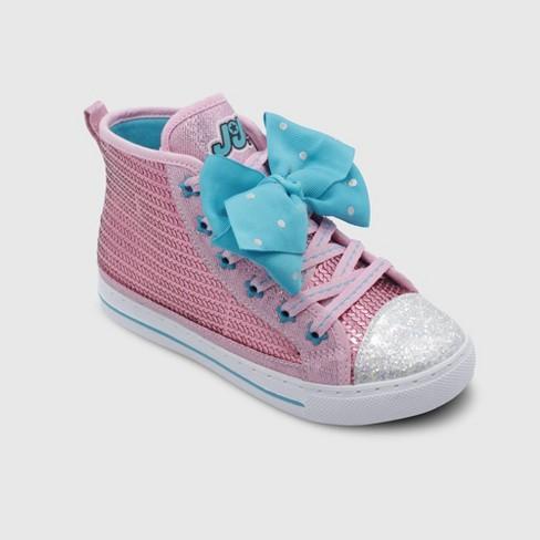 Toddler Girls' Nickelodeon JoJo Siwa High Top Sneakers - Pink - image 1 of 3