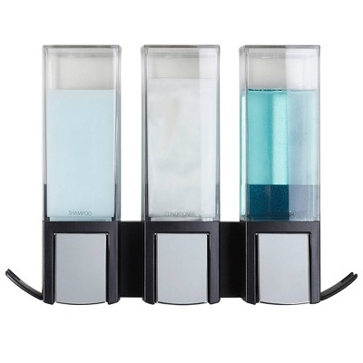 Clever Three Chamber Wall Mount Soap and Shower Dispenser - Better Living Products