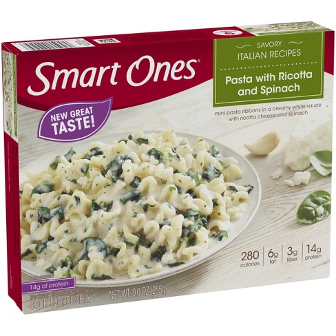 Smart Ones Frozen Pasta with Ricotta and Spinach - 9oz - image 1 of 3