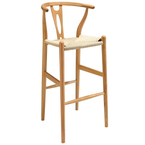Amish Wood Bar Stool - Modway - image 1 of 4