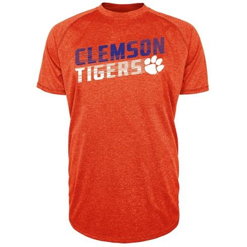 brand new 72494 bddf7 Clemson Tigers Men's Short Sleeve Raglan Performance T-Shirt - S
