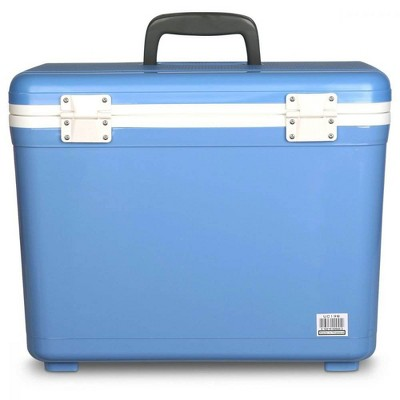 Engel UC19B 19 Quart Fishing Live Bait Dry Box Ice Cooler with Stain/Odor-Resistant Surface and Shoulder Strap, Arctic Blue